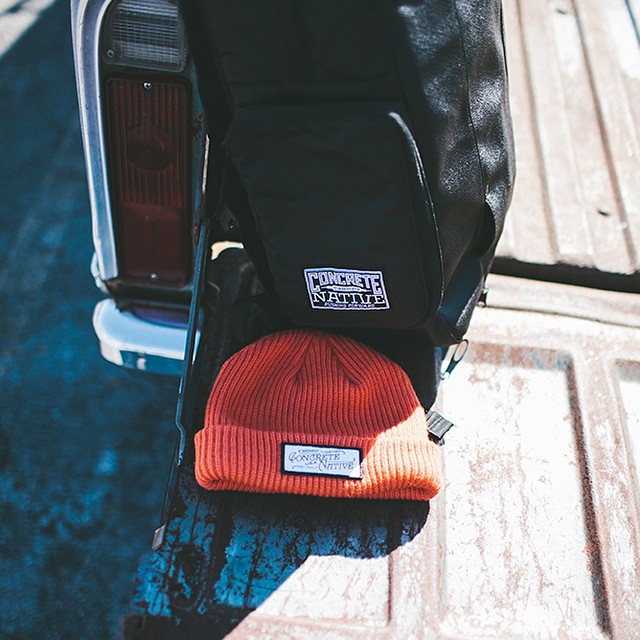 Keep your head warm and your stuff safe this winter with the Buckshot beanie and the OG backpack #beanieseason #getwiththeoriginal #concretenative #realshitforrealpeople