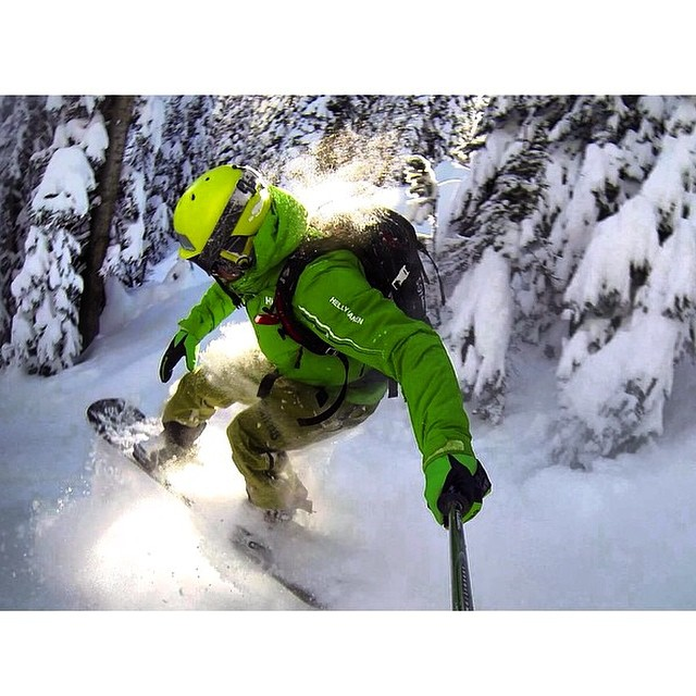 Team rider from #Canada @goldenrider420❄️#Snowboarding #FrostyHeadwear #BackCountry #Powder #GoPro