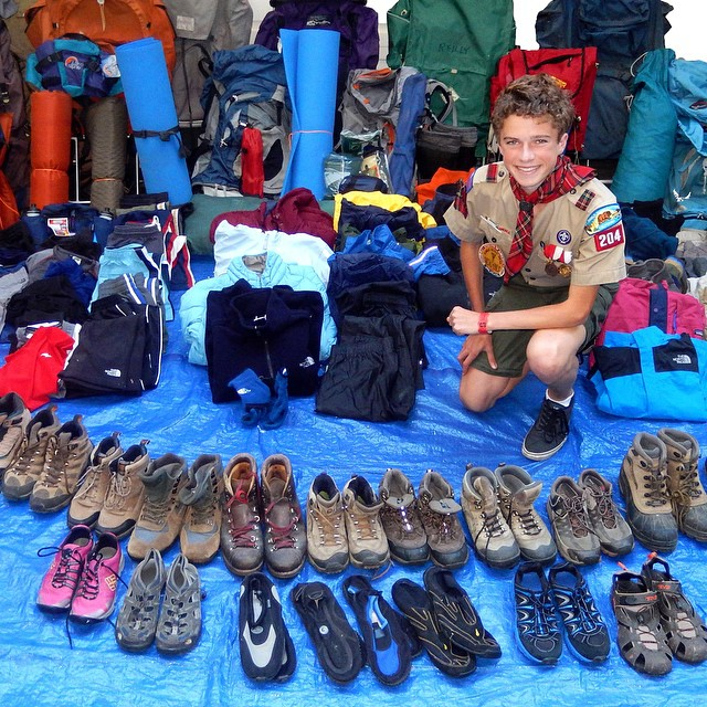 Alex Glavin collected a ton of gear for his #EagleScout project and donated it all to ASC! Thanks Alex!!