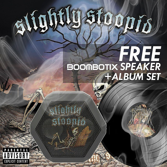 Get your @slightlystoopid fix! Win a #StoopidRecords CD and vinyl collection along with a custom #boombotix REX by heading over to boombotix.com/media/ftw