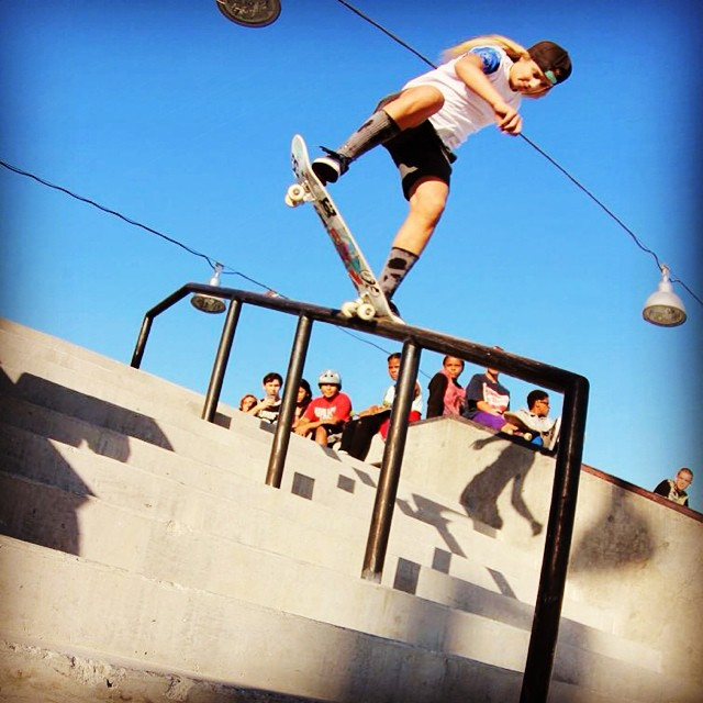 Tune in to @spottampa to see @alanasmithskate competing against the boys at #tampaAM!