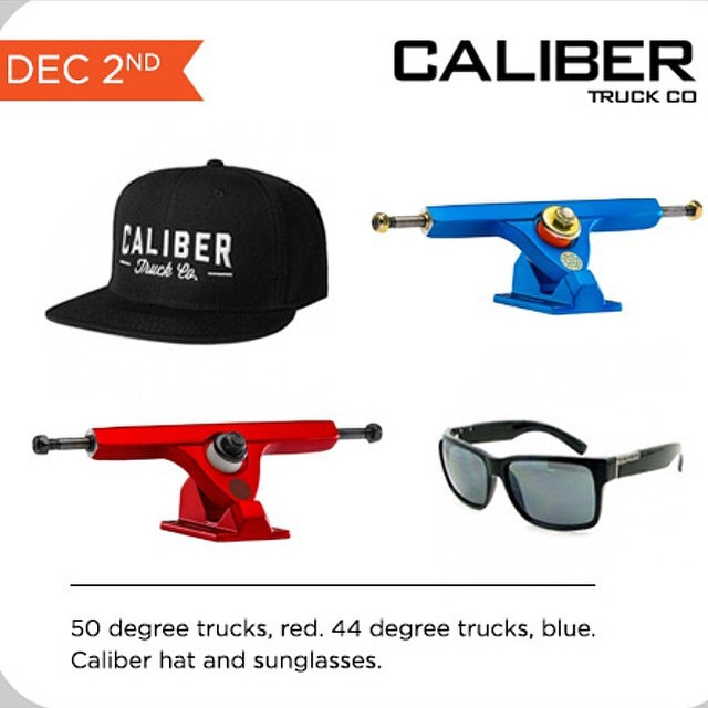 @daddiesboardshop is having its Month of Insanity! Yesterday Luke S. from North Carolina won the #calibertrucks package!