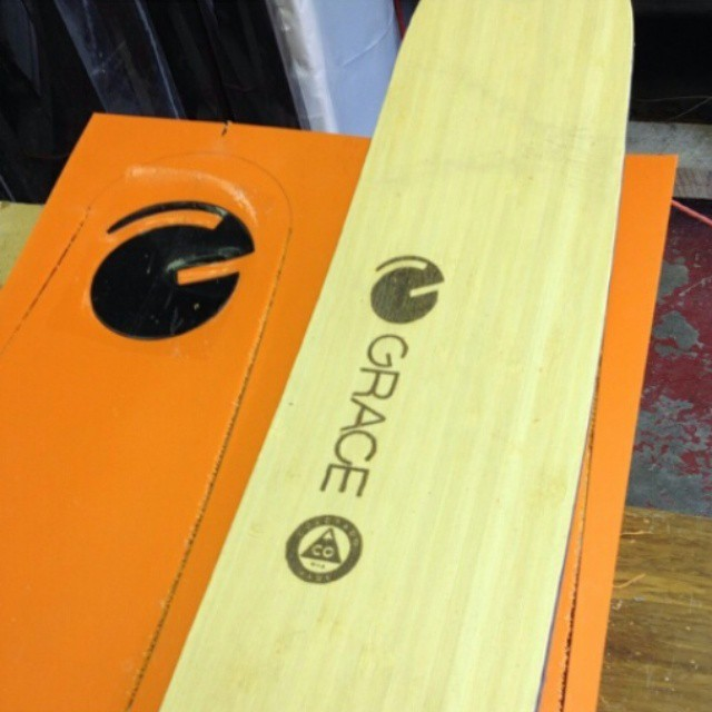 More #bamboo veneers and #orangehot bases.  Shop in full swing and demo fleet coming soon. Thx @davismurane
