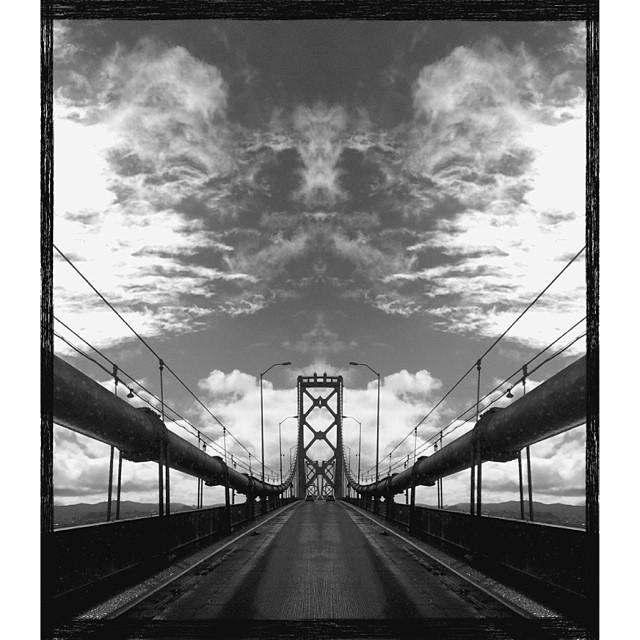 Baybridge. #sanfrancisco #oakland #california #claytonhumphriesphotography #bwphotography #canon