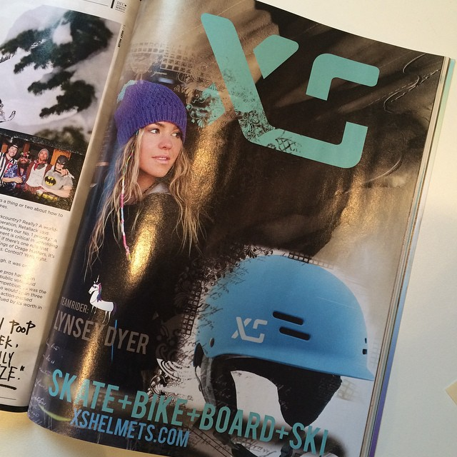Check out the awesome ad in @Freeskiermagazine from @xshelmets and @lynseydyer ! Thanks @lynseydyer for your creative on this! #xshelmets #ski #skatebikeboardski #forgirlswhoshred #lynseydyer