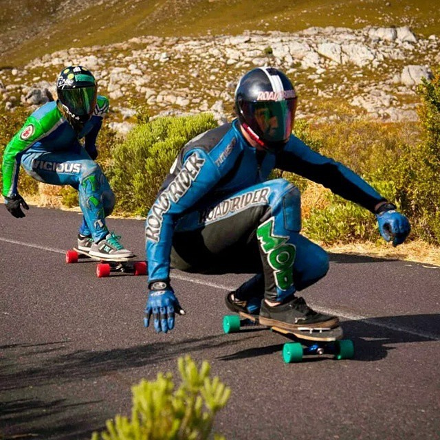 regram from @kylewesterskate back in 2012 of him and Graham Buksa shmobbing a run during Hotheels in South Africa. Kyle is back in SA and ready to race again next weekend! Get em dude! #southafrica #hotheels #downhill #DH6
