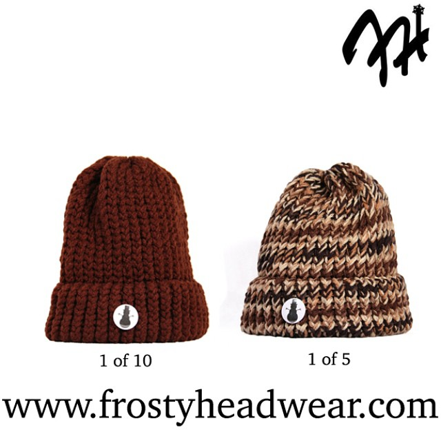 #FrostyFridays Series 10 is a limited release presenting a 1 of 10 and a 1 of 5 collection. Once all 15 hats have sold out they will expire from www.frostyheadwear.com⛄️All knitted hats being released this #Winter are #MadeinMinnesota #FrostyHeadwear...