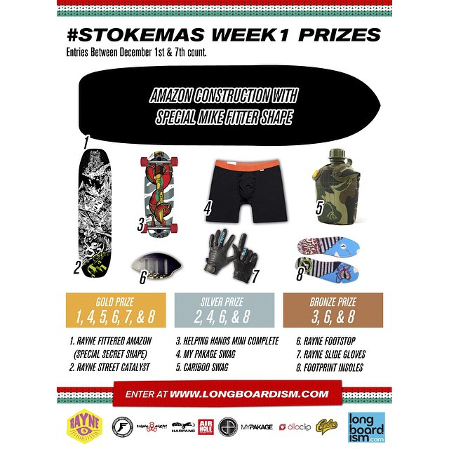 Our friends at @raynelongboards are doing a huge giveaway for Stokemas! Some free MyPakage prizes and lots of other goodies. Check them out for details on how to enter! #stokemas2014 #getstoked