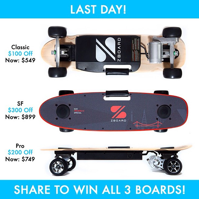 Re-post with #WinAllThreeZBoards for a chance to win!  Click the link in our profile for more ways to enter.
