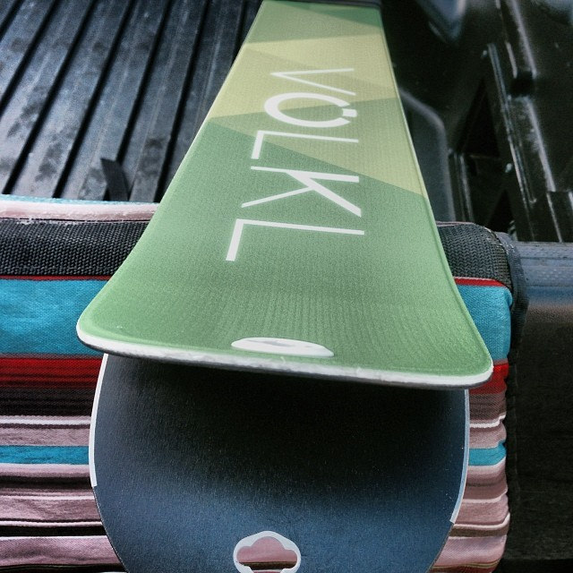 Freshly mounted @volklskis for opening day at @squawvalley | #crackOnoonclub