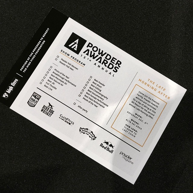#powderawards // who do you think will win...Best Male, Best Female, and Full Throttle?