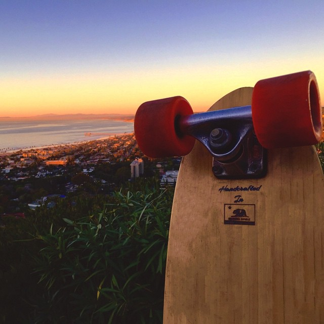 Always awesome to get pictures sent to us from stoked customers. Thanks @bribarber for this great shot of your Roots Mini overlooking our beautiful backyard here in San Diego. #naturallogskateboards #handcrafted #cruiser #skateboards #ecofriendly...