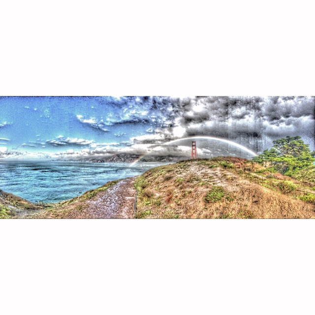 To much #HDR #goldengatebridge #california #rainbow #claytonhumphriesphotography