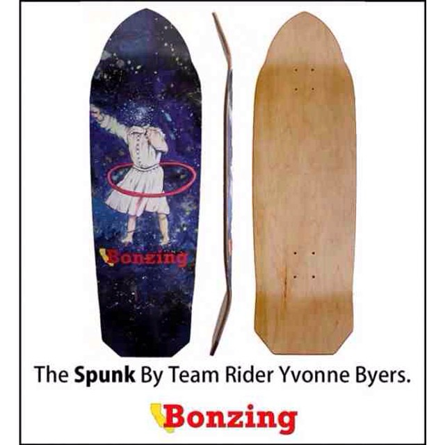 Cruise over to @skateslate to check out Team rider Yvonne Byers--@yvonzing gettin it on the new Bonzing Spunk now!  #bonzing #skateslate #yvonnebyers #spunk