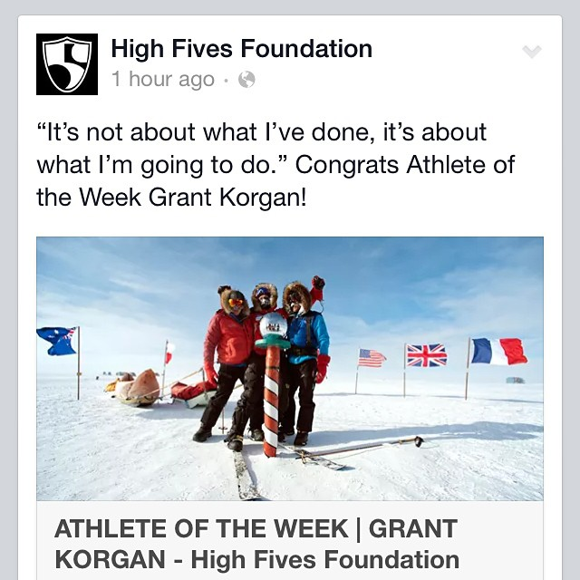 Wow... Huge honor - I feel so privileged & blessed to be supported, empowered & H5'd by the incredible @hi5sfoundation!!! - Photo: #gallerykeoki.com - to learn more, visit:  #highfivesfoundation.org  #highfivesathlete | @apbspeakers | #southpolepush |...
