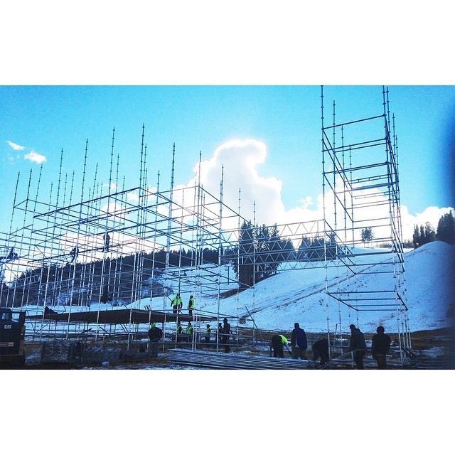 Our control tower is being constructed at the base of Buttermilk Mountain.  #XGames Aspen is only 47 days away!