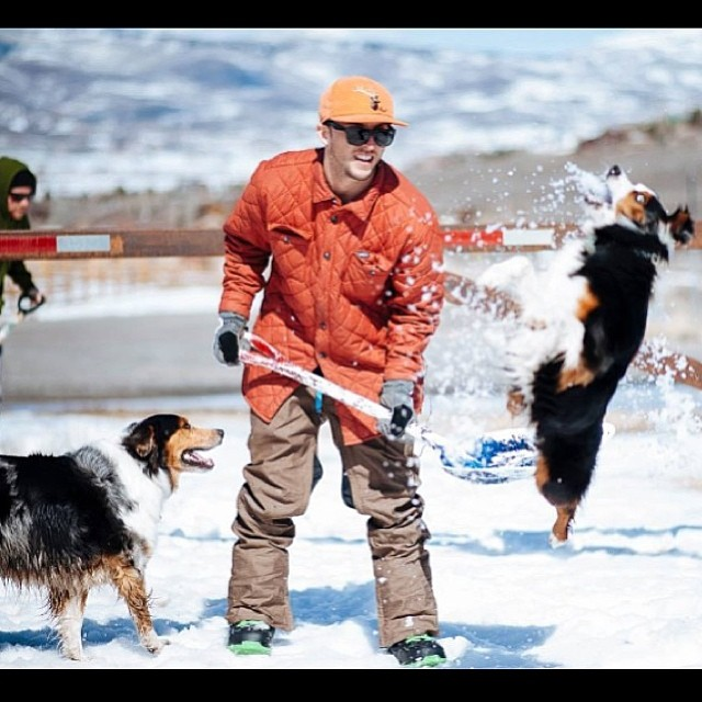 Regram from @sleepystevens having some fun in the snow with the dogs. Like if you're thankful for your furry friend this holiday season | p: @talroberts