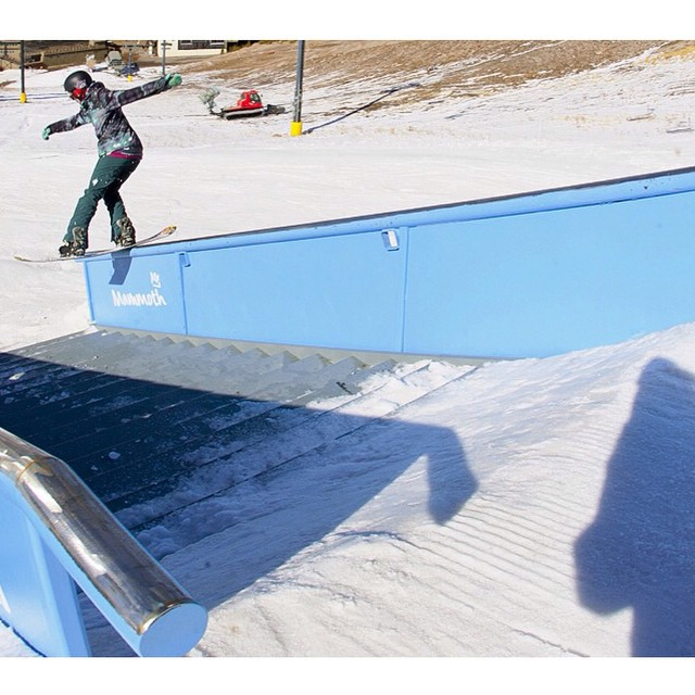@gnar__marr at @mammothmountain @mammothunbound This girl rips. ❄️