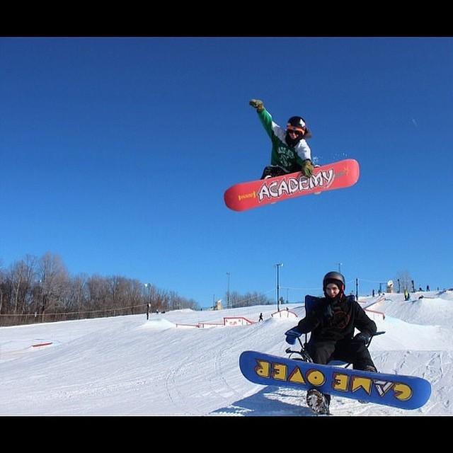 Team rider from #Minnesota @caseypflip❄️#Snowboarding #FrostyHeadwear #Academy