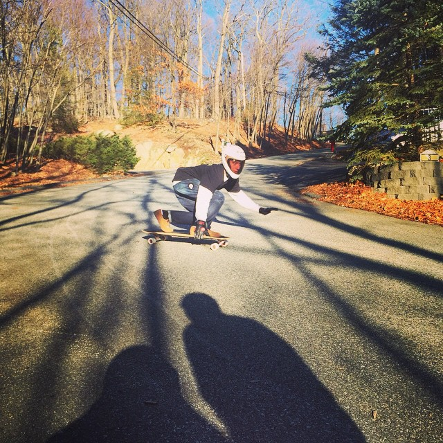 No hands, toeside, all slide with @nycl_joey while filming with the homies on a winter's day PC: @nycl_sam #calibertrucks #eastcoaststyles
