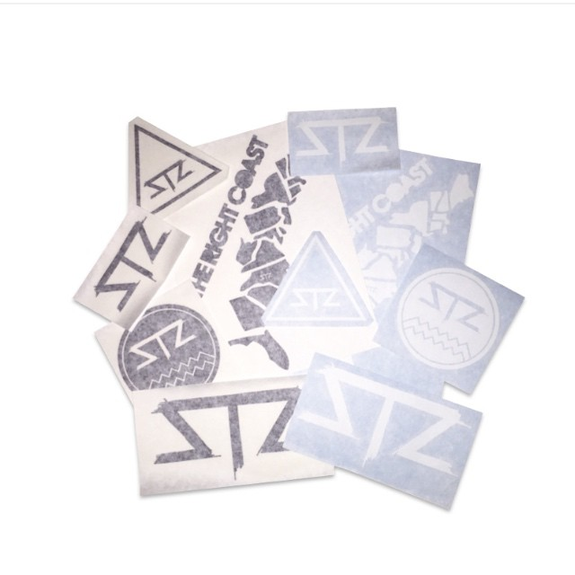 Sticker packs available online! All orders come with free logo stickers... #supportlocal #stzlife #happyshredding #therightcoast #stickers #snowboard #wakeboard #skateboard #surf www.mystz.com