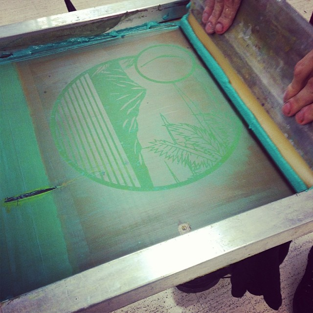 #organikclothing #diamondhead design screenprinted by hand in #Hawaii just now