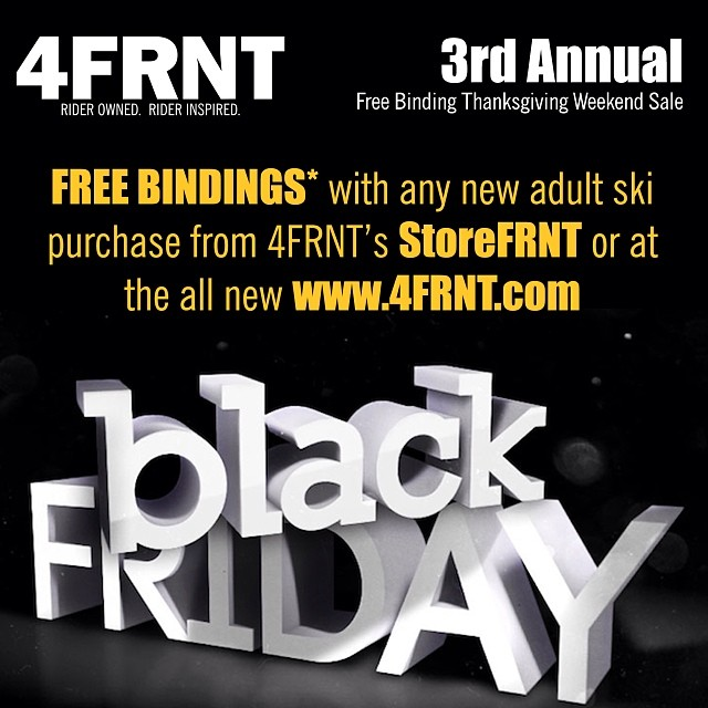Tis' the time for...gettin' hooked up. We know you have holiday shopping on the brain and so do we. To make your holidays a little less stressful we are proud to announce that ANY PAIR OF SKIS PURCHASED WILL COME WITH A FREE PAIR OF BINDINGS*. This...