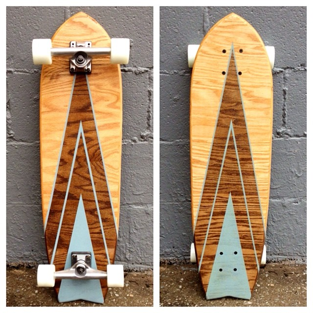 Check out the modern lines on this handmade longboard. $20 off boards today! Code = 2020