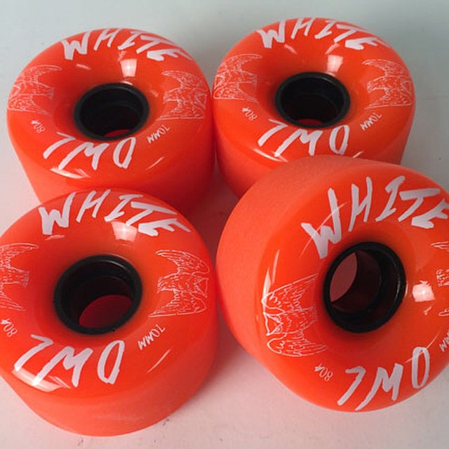 70mm 80a stone ground and #USA made #churchillmfg #whiteowl #wheels are on #sale now in our #webstore #concretewave #longboard #longboarding #skatelife #skateboards #skateshop #love #cruise #thankyouskateboarding #slide #thanelines #freeride #round...