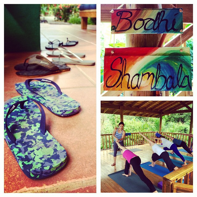 It feels wonderful to be back on our regular schedule of #yoga classes here in Bahia Ballena, #CostaRica!