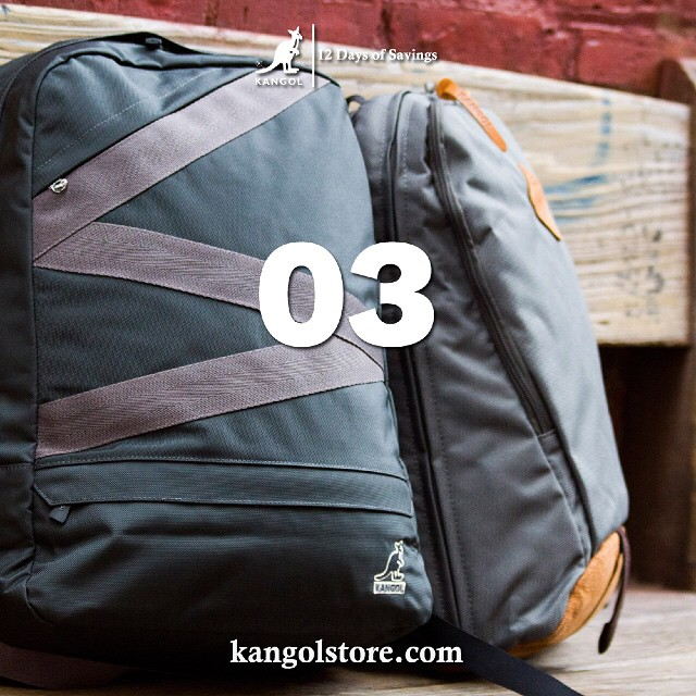 24 Hour Sale —Day 3: 10% Off Functional Kangol Bags at http://kangolstore.com Discount Code: bags10 #kangol12daysofsavings #kangol