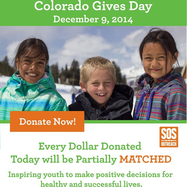 This is our biggest donation day of the year. Help make it our most successful #cogivesday yet! Coloradogives.org/sosoutreach. #inspireyouth