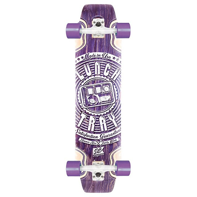 Q. Can I get a dinner size (39 inch) Lunch Tray? A. Yes. Yes you can. The super size of our classic Lunch Tray is available at DBlongboards.com #longboarding #longboards  #goskate #dinner #lunchtray #dblongboards #purple #facts