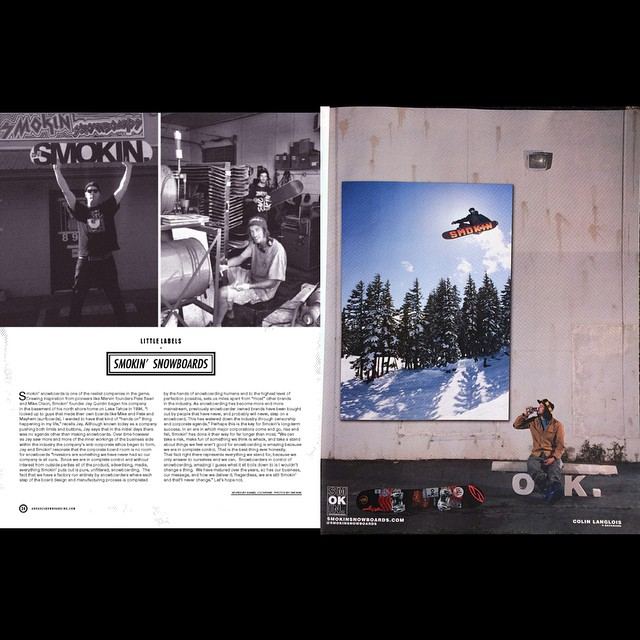 Big thanks to @arkadesnowboarding for the chance to voice our view on snowboarding. @laneknaack and @space_rok - team riders making the boards. @eldulche #ColinLanglois ripping his #Jetson  #superpark18 @ride7springs hip photo by me. Ad shot...