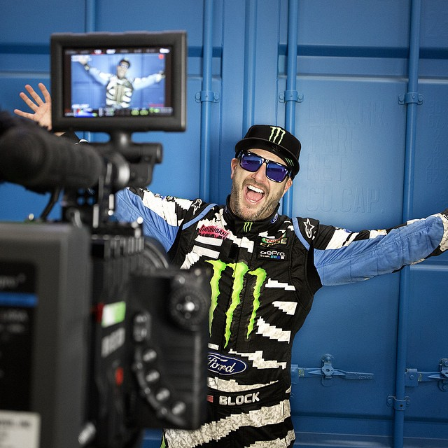 Behind the scenes with the happiest hoonigan we know, @kblock43.  #SEEHAPPY