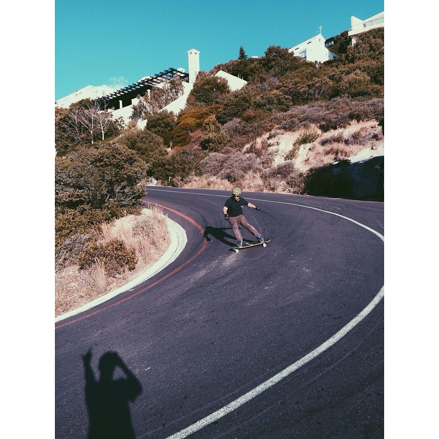 @chubbaluv sliding around a hairpin in South Africa. Tomorrow the crew heads out of Capetown for Hot Heels!