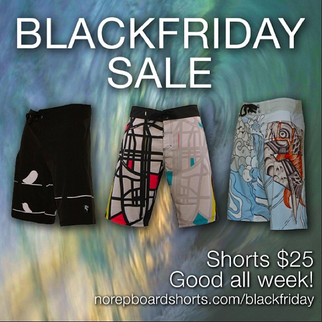 Reminder! Our Black Friday sale goes through Monday! Our best selling shorts for $25! Www.norepboardshorts.com/blackfriday #norep #blackfriday #surf #hawaii