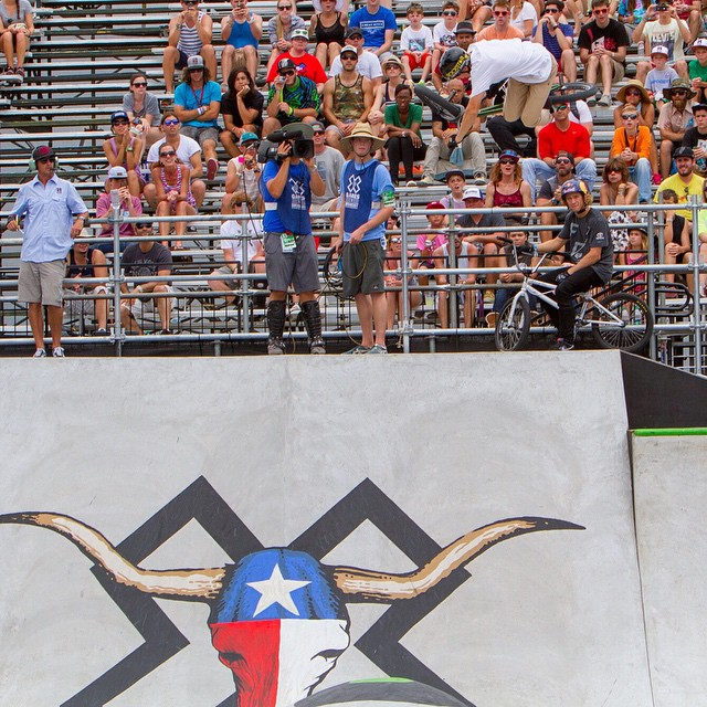 #TBT – In June, @Chase_Hawk took home BMX Park gold.  Tonight, he'll announce the dates of #XGames Austin 2015 at the ATX Trail of Lights. ❌