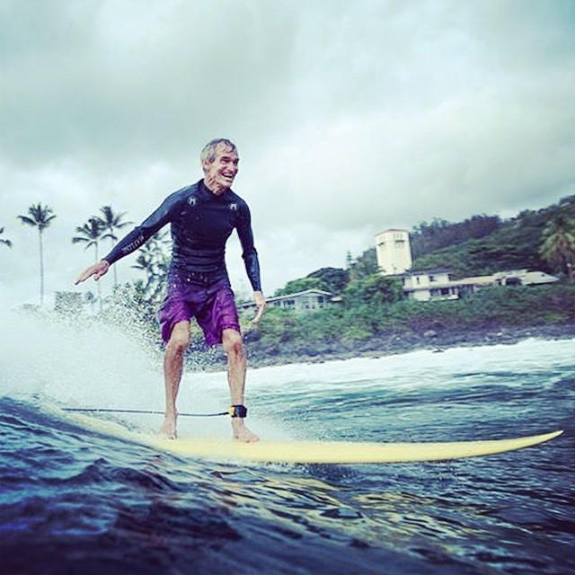 Jock Sutherland in the Ichiban at Waimea Bay #ichibanisichiban #lovematuse PC @toddglaser