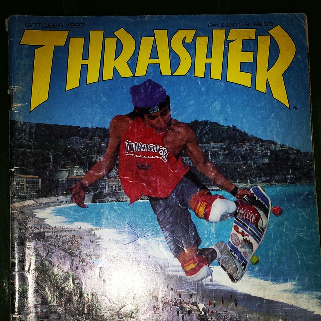 My first sk8 mag. @christianhosoi #throwbackthursday #cantstop #wontstop #hosoi #jimmyz #builttogrind #thrashermagazine