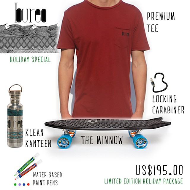 *Limited Edition Holiday Package // Board • Lock • KleanKanteen • Organic Tee • Paint pens // Make the Minnow your canvas, create your own custom designs! #NetsToGifts