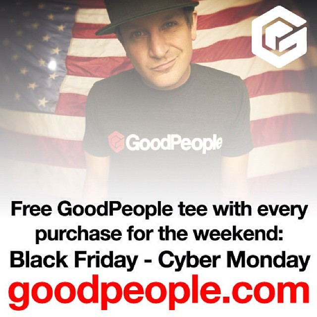 Stay home with your families and buy them some rad gifts from www.goodpeople.com. Support young up and coming brands that all give back socially or environmentally and get a free t-shirt with every purchase #gobigdogood #giveback #holidays #giving...