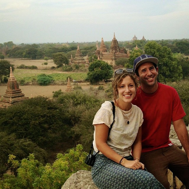 We don't post many photos of ourselves, but hey, it's #tbt here's one from two years ago in Bagan, Myanmar; the month before we returned to Nepal to get EST WST started. #myanmar #travel #connectglobally #wanderlust #family