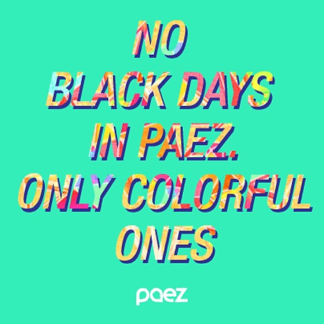No #blackfriday in Paez #black #friday #paez #colorfull #instamood