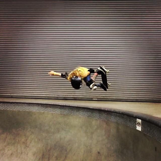 @brightonzeuner #blasting into #combi season! #theplayground #skatergirl