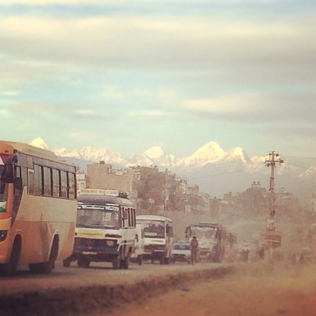 Sometimes when you're in the thick of Kathmandu dust and smog it's so surprising to look up and suddenly see the Himalayas glowing in the distance. A reminder of Nepal's incredible landscape and beauty, and also one very important motive to start...