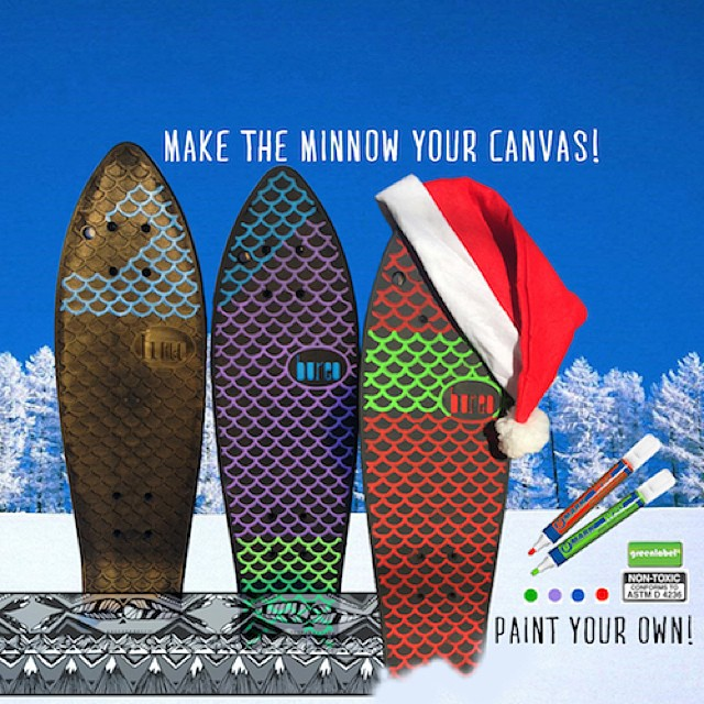 Water based paint pens now available in the Holiday Package...make the Minnow your canvas! #NetsToGifts