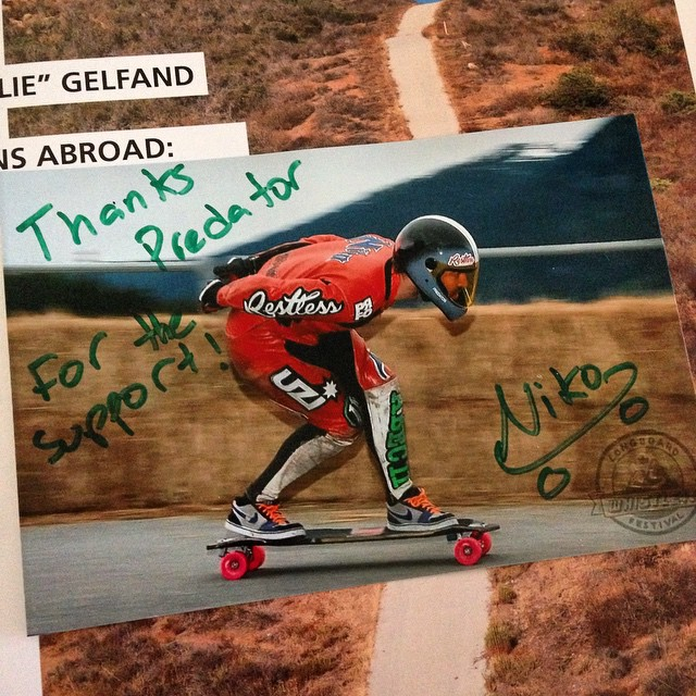 Looks like @niko_dh mailed us some love! Thanks for being rad Niko! #teampredator #support #downhill #DH6