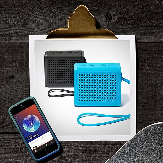 Listen closer.  The Mini Blaster durable wireless speaker, featured in the Nixon Holiday Gift Guide. Get gifting with Free shipping and returns now on nixon.com. #nixonholidaygiftguide #miniblaster #nixon