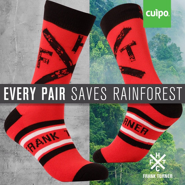 @FrankTurner limited edition socks are now up and available for pre-order! #saverainforest #frankturner #cuipo www.cuipo.org/frankturner